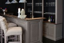 Home Bar / the perfect bar - something with class that blends into the open plan living area without making it seem like our lives revolve around drinking!