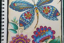 Adult colouring with Chameleon Pencils