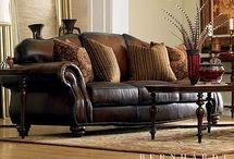 Leather lounge suite pillow ideas