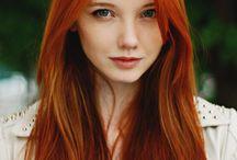 Cheveux orange