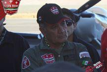 Alfredo Valenzuela Mata / Ex integrante de la Fuerza Aérea mexicana, sus primeros vuelos fueron en la escuela militar de aviación con más de 45 años de experiencia como piloto.