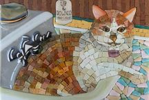 Mosaico de gato