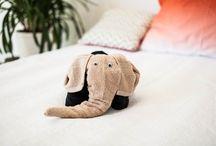 Zvířátka z ručníků: Slon a buldoček