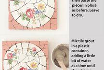 kırık porselenden mozaik