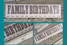 Family Birthday/Celebration Boards / Signs used to track your family birthdays and other celebrations!!