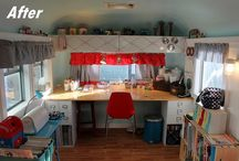 She Shed / Unconventional Home Office / Craft Space / by Page Farm Chick (Deb Daniel)