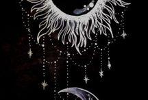 lune, soleil, étoiles..