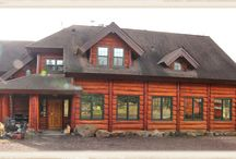The Lodge at Big Bear Lodge / The lodge at Big Bear Lodge - constructed of hand hewed cedar logs in a French Canadian style.