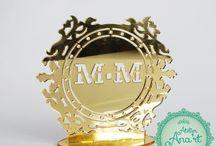 Topos de Bolo / Escolha, e personalize o seu! Para um casamento feito em detalhes www.atelieranart.com.br