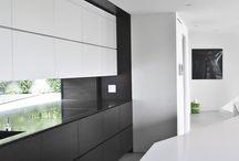 Black and white kitchen / Siyah beyaz mutfak modelleri
