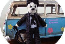 Charlie Chaplin amigurumi