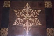 Tile floor inspirations / Colours and shapes could be used in fabrics, yarn, jewellery