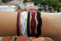 pulseiras e bijus / pulseiras e bijus que eu fiz...