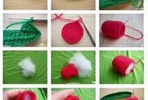 tulipas em crochet