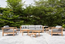 Outdoor and garden furniture / Furniture from OASIQ, outdoor rugs from Carpet Sign, products from Lammhults, all available from www.crest.london