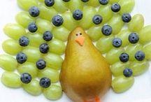 Fruit art arrangements