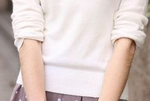 polkadot skirt, dress, and sweater