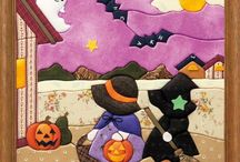 patchwork sin aguja halloween