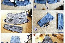 Переработка джинсы