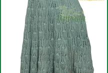 Crochet Skirt / Sea Green Cotton Handloom Crochet Skirt Full Length Stretchable at Waist. Height of the skirt is 41 inches. This skirt literally sinks with pair of wedges for parties.