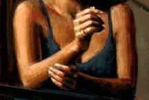 Painting inspiration / Fabian Perez and others
