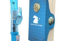 Cosas que comprar / VIBRADOR MAGIC 8 FUNCIONES CONEJITO AZUL 24cm.