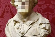 pixel mosaic banksy