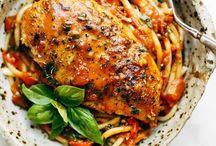 chicken basil pasta