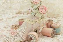 Hormas de zapatos decorados