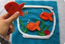 Vauvat: askartelua ja aktiviteetteja / Askarteluideoita vauvoja varten tai vauvojen kanssa.  Baby crafts and activities
