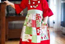 Patchwork Dress / Creative Inspiration for the Patchwork Girl's Dress PDF Sewing Pattern by Handmaiden's Cottage