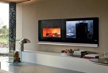 TV / fireplace area