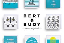 STATIONARY / Send it to a friend with these enchanting greeting cards from Bert & Buoy. Exclusively illustrated and designed by Bert, these original cards are hand screen printed in Devon to make them extra special.