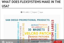 Infogram Pins / Using this new tool to show others our pvc labels, custom patches, emblems, velcro patches, custom keychains and custom USA made promotional products