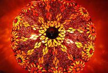 Glass Mosaic Ceiling Lamp