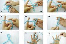 tricô  de dedo