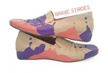 Far Out Flats / Fabulous flat shoes from Brave Strides. Hand painted and unique. Get used to the question 'Where did you get those Shoes! '