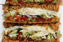 ~To sandwich... / Noun... two or more slices of bread or the like with a layer of meat, fish, cheese, etc., between each pair...  / by Sonya Fitzmaurice with A little something...®