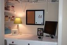 Coat Closet turned Computer room