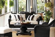 Outside Porches, Patio, Sunroom Furniture & Decorations / by Margaret Darby