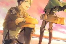 """Levi x Eren    Doujinshi """"Shingeki No Kyojin"""" : Yaoi World / Images sur le thème du couple yaoi (ou boy's love): Levi / Rivaille x Eren Anime : Shingeki No Kyojin"""