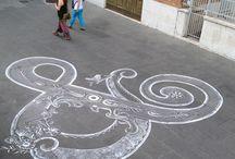 Street hand lettering chalk
