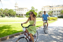 Biking Around Jekyll Island / Bike riding is one of the most popular activities on Jekyll Island! There are 20 miles of flat paths that circle the entire island. It is a great way to see the sites. / by Jekyll Island Club Hotel