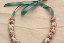Fabric bead necklaces