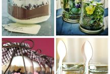 Mason Jars and Decoupage / Decoupage of Mason jars and other glass wares.  Upcycle to keep the earth clean and healthy.
