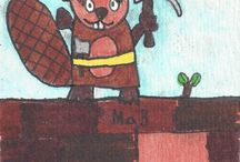 my son's aceo and othe drawings