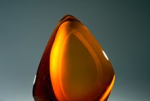 """""""POSITIVE SPACE"""" glass sculptures / Sculptures made in glass referring to negative and positive space in objects made of glass or crystal."""