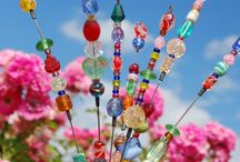 garden beads and flowers