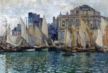 """Claude Monet / (14 November 1840 – 5 December 1926) was a founder of French Impressionist painting, especially as applied to plein-air landscape painting. The term """"Impressionism"""" is derived from the title of his painting Impression, soleil levant (Impression, Sunrise), which was exhibited in 1874 in the first of the independent exhibitions mounted as an alternative to the Salon de Paris."""