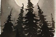 .:PINE TREES AND MOON LIGHT:.